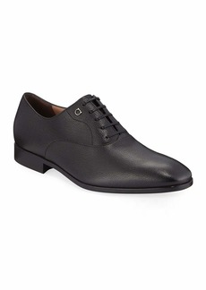Salvatore Ferragamo Men's Toulouse Pebbled Leather Oxford Dress Shoe