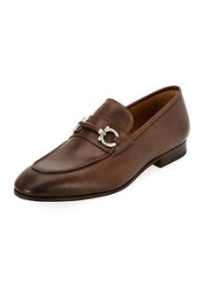 Ferragamo Men's Tramezza Leather Gancini-Belt Loafer