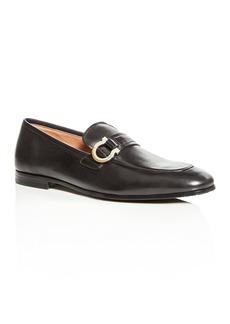 Salvatore Ferragamo Men's Tweed Leather Apron-Toe Loafers