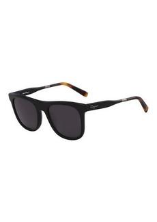 Ferragamo Men's Universal-Fit Classic Logo Square Sunglasses