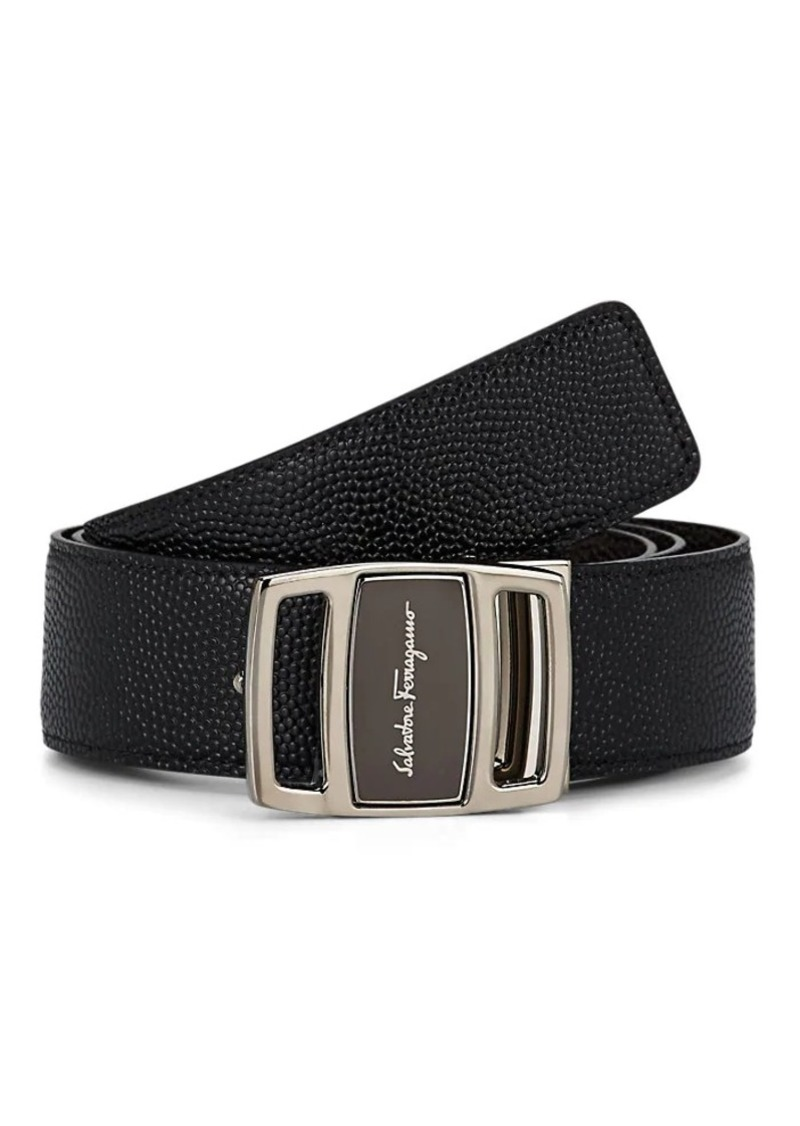 Salvatore Ferragamo Men's Vara-Buckle Reversible Leather Belt