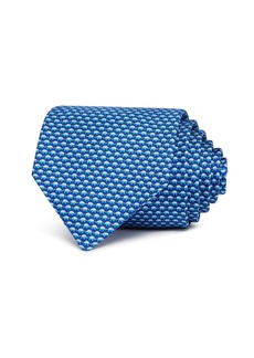 Salvatore Ferragamo Micro-Elephants Silk Classic Tie