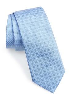 Salvatore Ferragamo Micro Geo Print Silk Tie