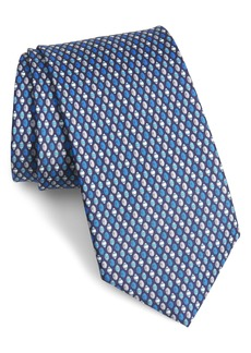 Salvatore Ferragamo Mina Football Silk Tie