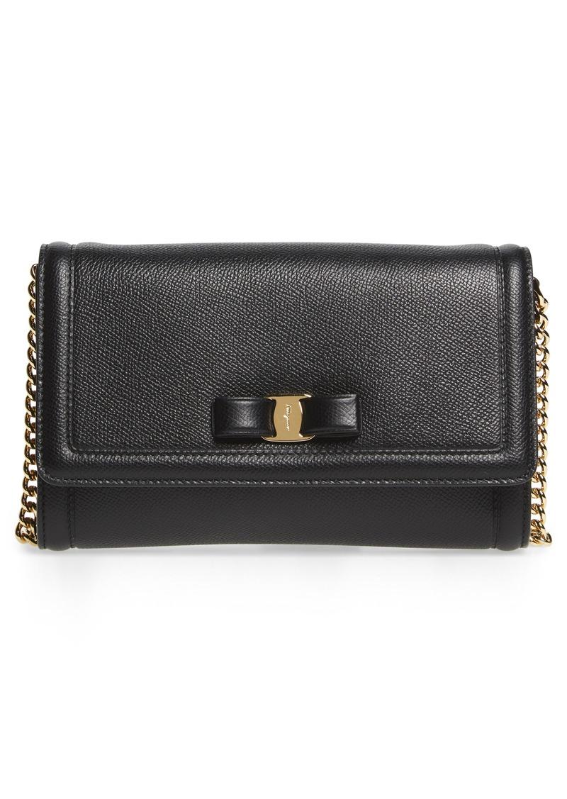 Ferragamo Salvatore Ferragamo Mini Vara Leather Crossbody Bag  ac6a4f3a343f8