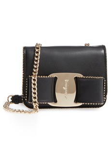 Salvatore Ferragamo Mini Vara Studded Leather Shoulder Bag