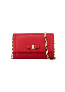 Salvatore Ferragamo Miss Vara Mini Crossbody Clutch Bag  Red