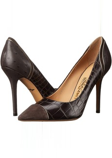 Salvatore Ferragamo Mixed Media High-Heel Pump