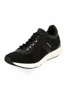 Ferragamo Men's Mixed-Media Trainer Sneakers