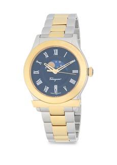 Salvatore Ferragamo Moon And Stars Stainless Steel Bracelet Watch