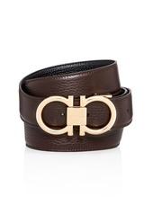 Salvatore Ferragamo Men's Muflone Reversible Leather Belt