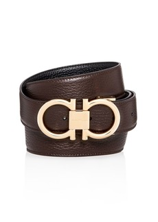 Salvatore Ferragamo Muflone Reversible Leather Belt