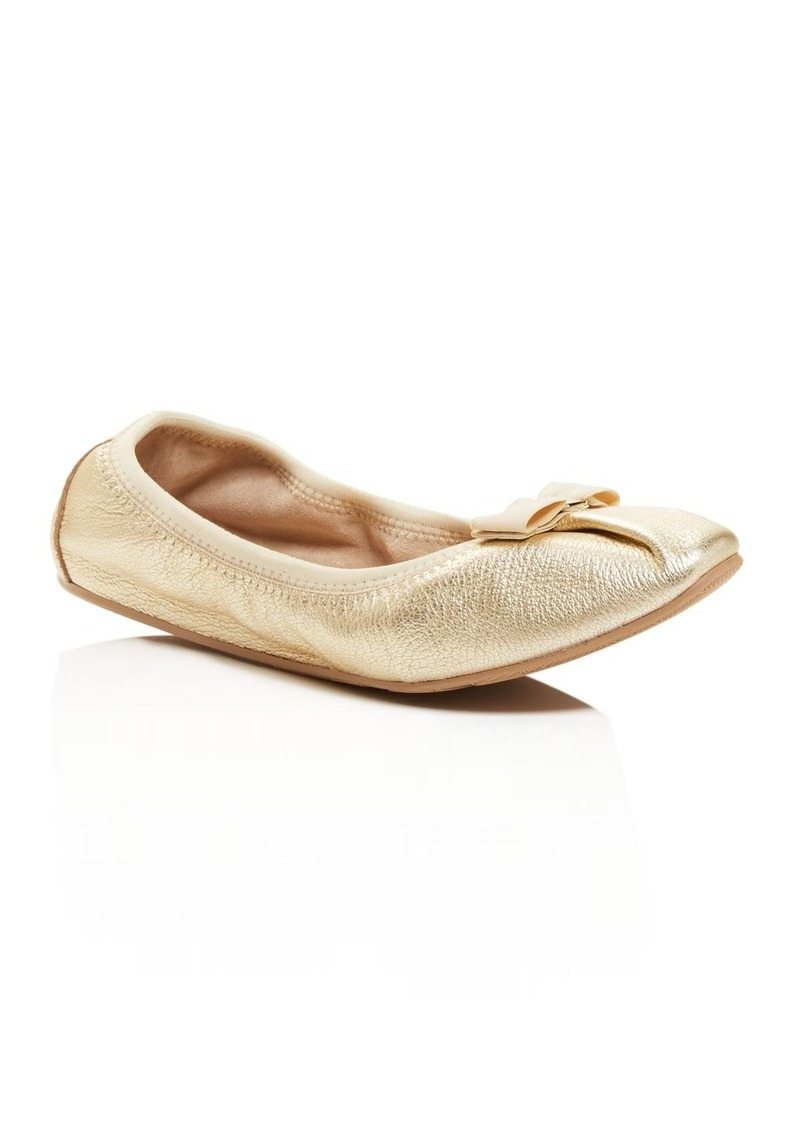 2178d9d0feaaa Ferragamo Salvatore Ferragamo My Joy Metallic Ballet Flats Now $140.00