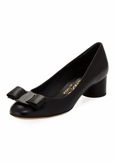 Salvatore Ferragamo Ivrea CT Napa Leather Vara Bow Pump