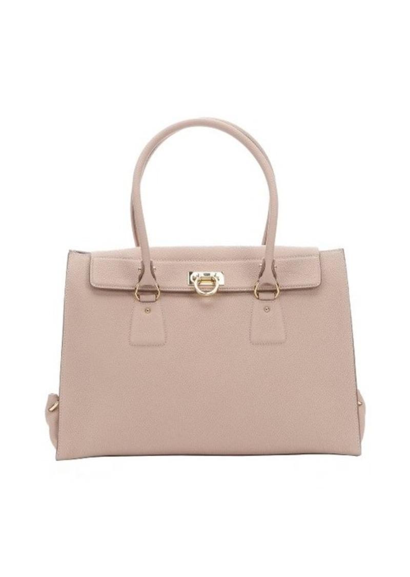ferragamo salvatore ferragamo new bisque calfskin 39 lotty 39 top handle bag handbags shop it to me. Black Bedroom Furniture Sets. Home Design Ideas