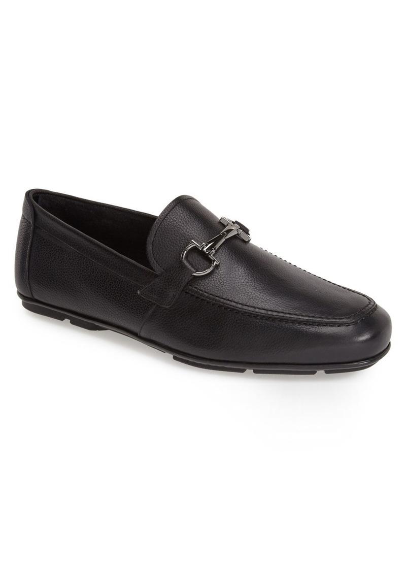 Salvatore Ferragamo 'Nowell' Leather Driving Shoe (Men)