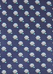Salvatore Ferragamo Owl Print Silk Tie