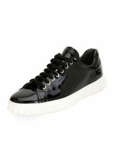 Ferragamo Men's Patent Leather Low-Top Sneakers