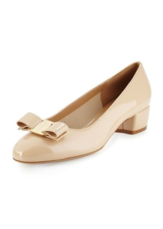 Salvatore Ferragamo Patent Low-Heel Pump