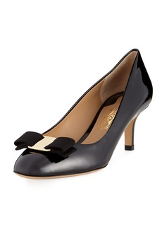 Salvatore Ferragamo Erice 70 Patent Vara Bow 70mm Pump