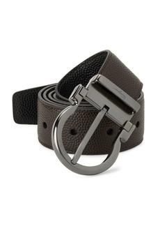 Ferragamo Pebbled Leather Belt