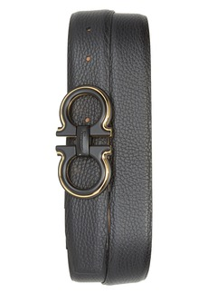 Salvatore Ferragamo Pebbled Leather Belt