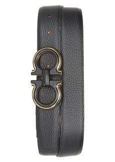 Salvatore Ferragamo Pebbled Leather Belt