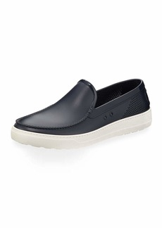 Ferragamo Men's Perforated Grommet Boat Shoe