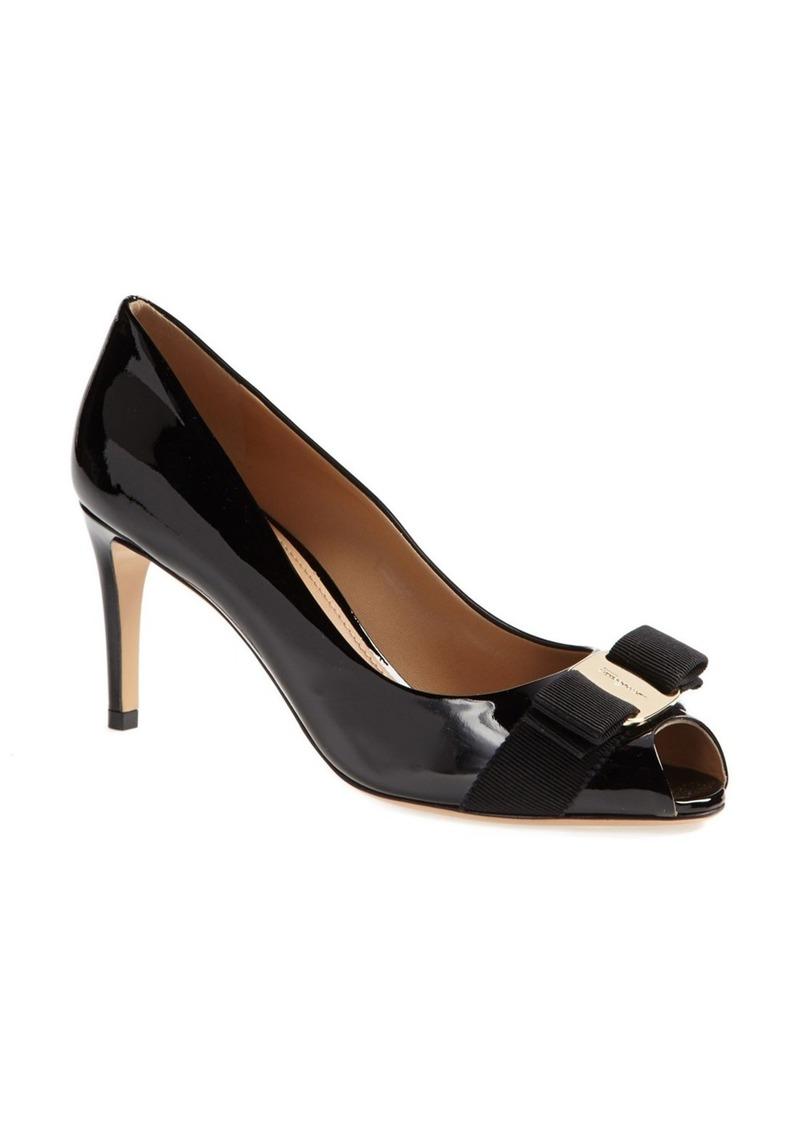 ferragamo salvatore ferragamo 39 pola 39 bow pump shoes shop it to me. Black Bedroom Furniture Sets. Home Design Ideas