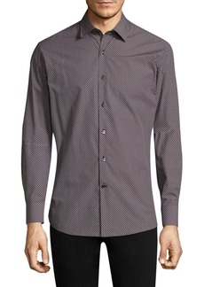 Ferragamo Printed Casual Button-Down Shirt