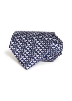 Salvatore Ferragamo Puppy Print Silk Classic Tie