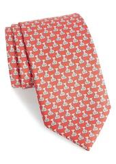 Salvatore Ferragamo Puppy Print Silk Tie