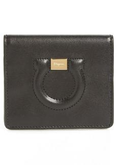Salvatore Ferragamo Quilted Gancio Leather French Wallet