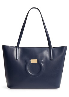 Salvatore Ferragamo Quilted Gancio Leather Tote