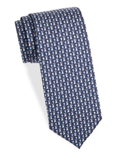 Ferragamo Rabbit Silk Tie