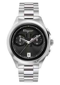 Salvatore Ferragamo Racing Chronograph Bracelet Watch, 42mm
