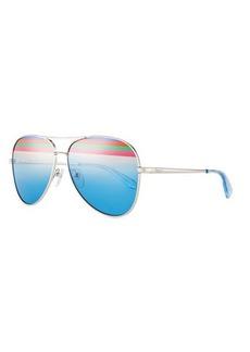 Salvatore Ferragamo Rainbow Aviator Sunglasses