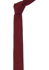 Salvatore Ferragamo Red Knit Silk Tie