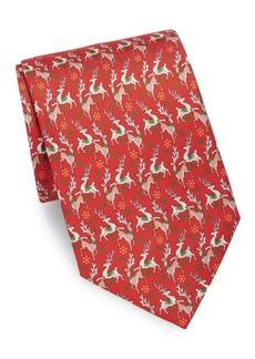 Ferragamo Reindeer Silk Tie
