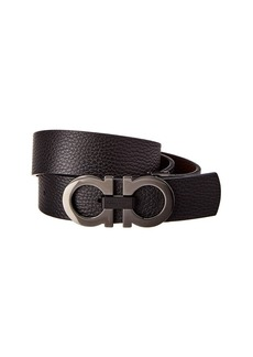 Salvatore Ferragamo Reversible & Adjustable Double Gancio Leather Belt