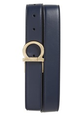 Salvatore Ferragamo Reversible Gancio Buckle Leather Belt