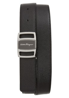 Salvatore Ferragamo Reversible Textured Leather Belt