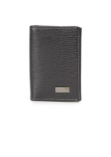 Salvatore Ferragamo Vertical Bifold Card Case with ID Window