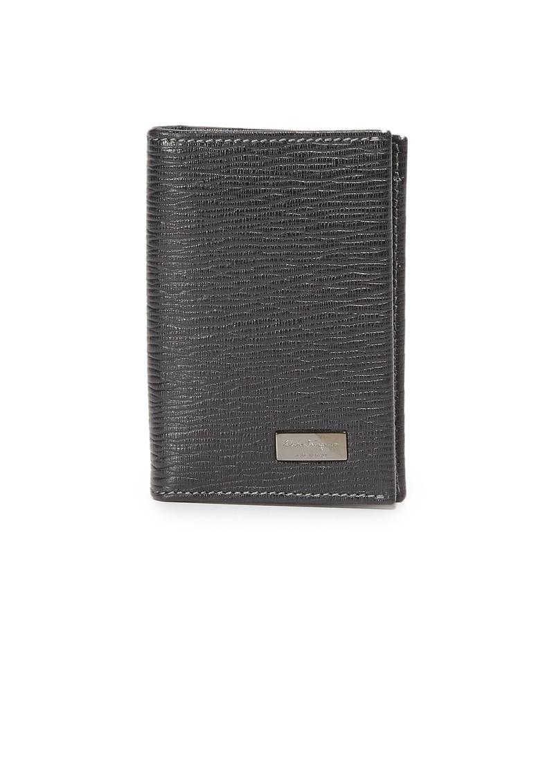 Ferragamo Salvatore Ferragamo Vertical Bifold Card Case with ID ... 37be252302459