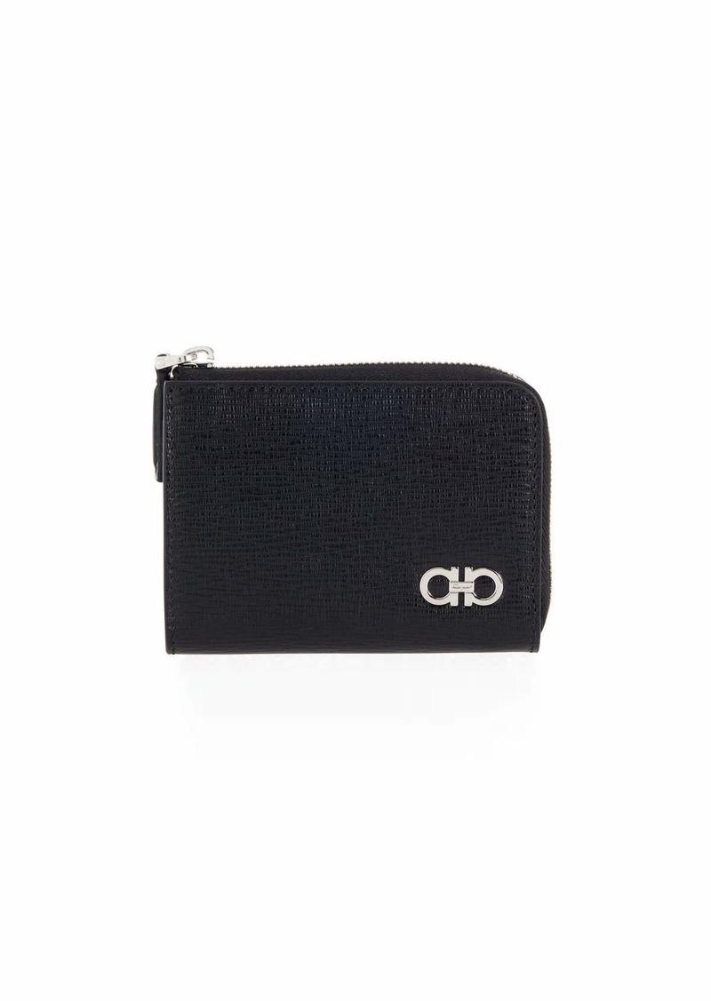 Ferragamo Men's Revival Leather Zip Wallet