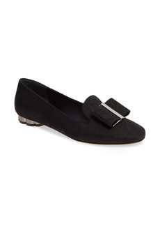 Salvatore Ferragamo Sarno Jacquard Bow Loafer (Women)