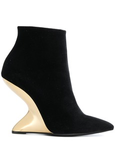 Salvatore Ferragamo sculpted heel ankle boots - Black