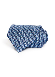 Salvatore Ferragamo Seahorses Classic Silk Tie