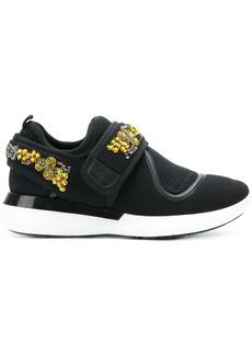 Salvatore Ferragamo sequin embellished sneakers - Black