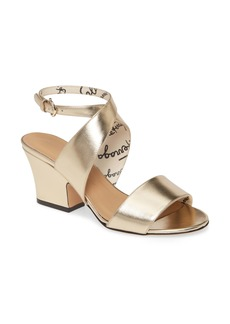 Salvatore Ferragamo Sheena Metallic Cross Strap Sandal (Women)